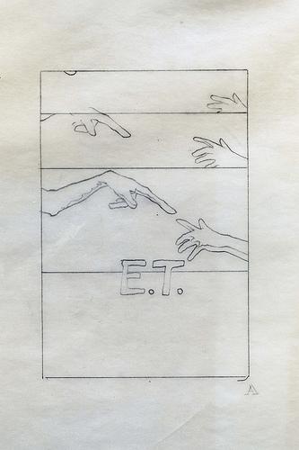 E.T. Small Hands 6 - original production concept art