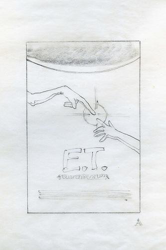 E.T. Small Hands 2 - original movie poster concept art