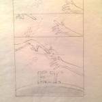E.T. poster comp in graphite from 1982 by John Alvin