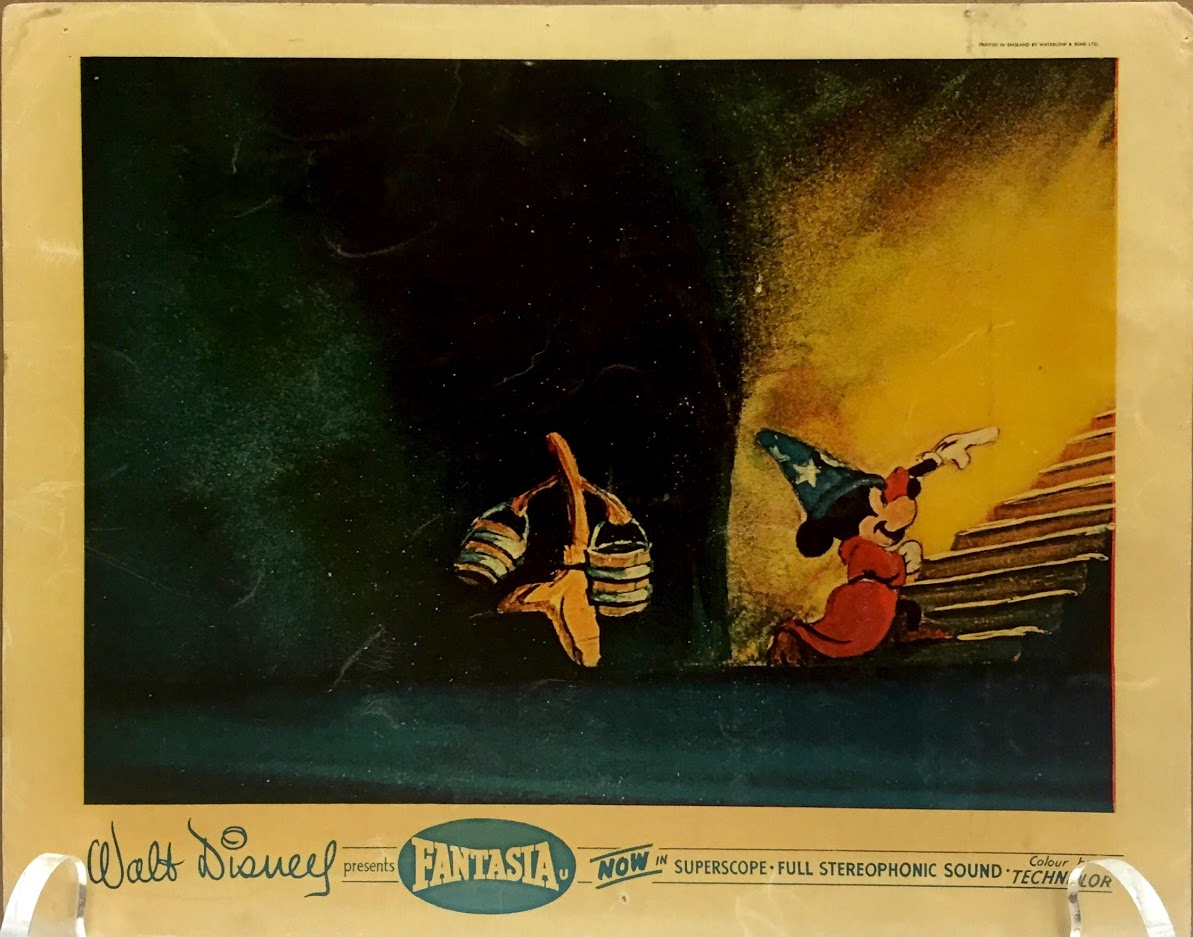 A British Sorcerer's Apprentice lobby card in the gallery