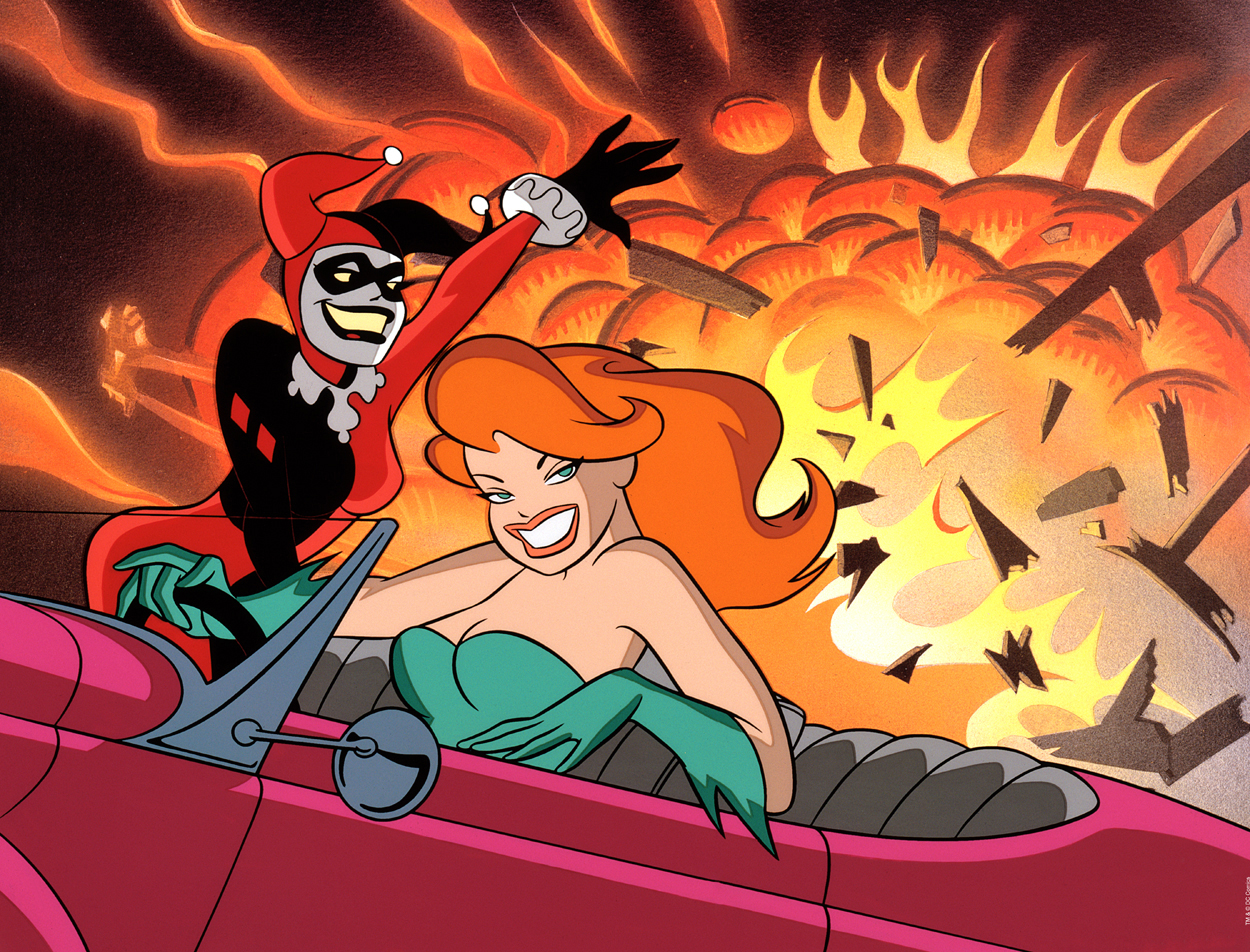 Girls-Night-Out-batman-villains-art-harley-quinn-poison-ivy-bruce-timm-artinsights