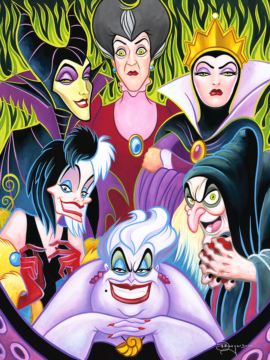 Misleading-Ladies-24x18-tim-rogerson-disney-villains-art-artinsights