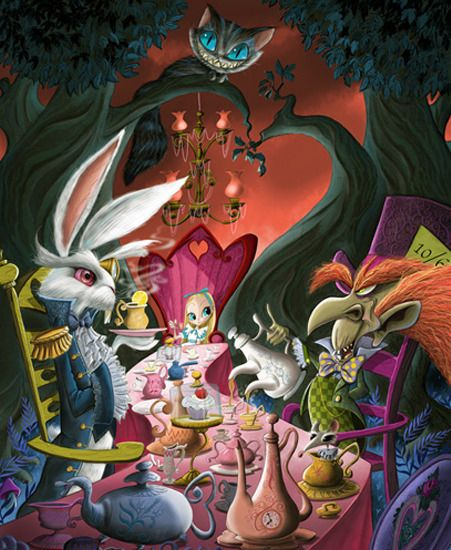 mad-tea-party-vasilovich-alice-in-wonderland-disney-art-artinsights