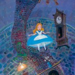 Alice Floating into Wonderland