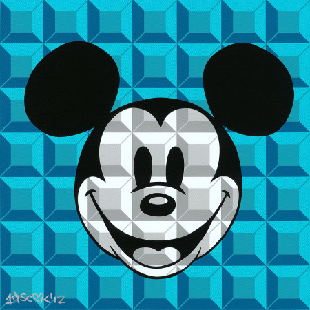 Disney - Mickey Mouse - 8-Bit Block Mickey Aqua
