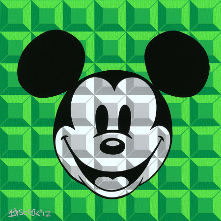 Disney - Mickey Mouse - 8-Bit Block Mickey Green