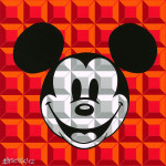 Disney - Mickey Mouse - 8-Bit Block Mickey Red