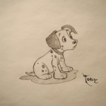 Dalmatian - Signed Graphite Drawing
