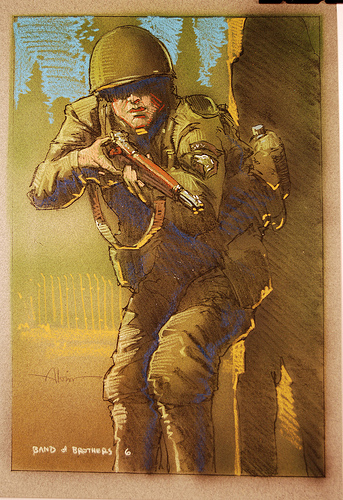 Band of Brothers - original production color concept art 3