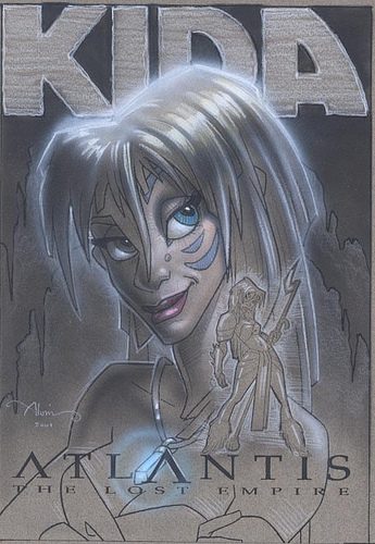 Atlantis Kida - original production color concept art