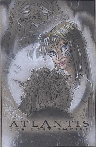 Atlantis Kida and Soldiers - original production color concept art