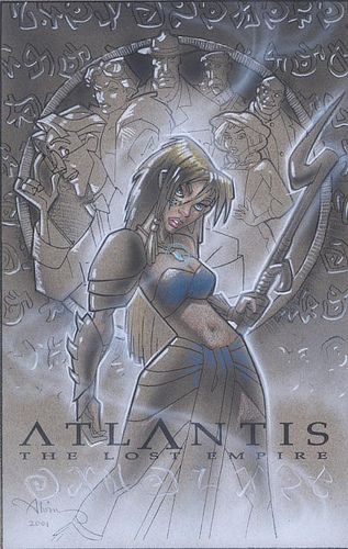 Atlantis Kida in Battle Dress - original production color concept art