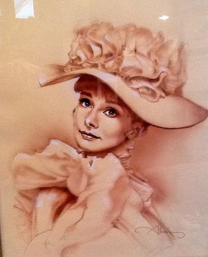 Audrey Hepburn - My Fair Lady - original production concept art