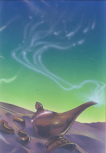 Disney - Aladdin - John Alvin - Aladdin Lamp #1 - original production color concept art