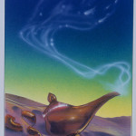 Disney - Aladdin - John Alvin - Aladdin Lamp #3 - original production color concept art