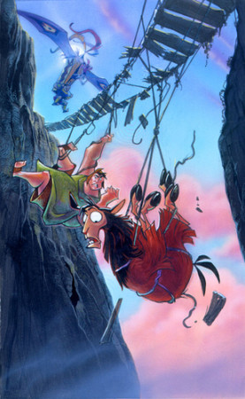 Kuzco and Bridge - original production color concept art