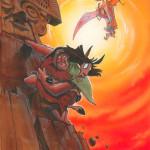 Kuzco Falls - original production color concept art