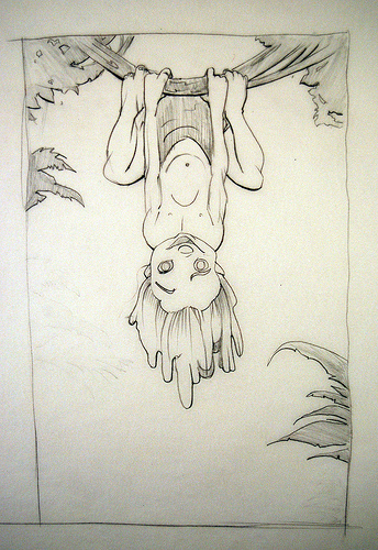 Tarzan Hanging - original production concept art