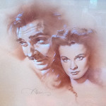 Gone With the Wind Rhett and Scarlett - original production concept art