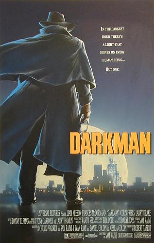 Darkman Movie Poster - original production concept color art