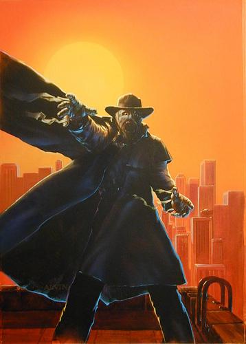 Darkman Sunset - original production color concept art