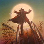 Darkman Rollercoaster - original production color concept art