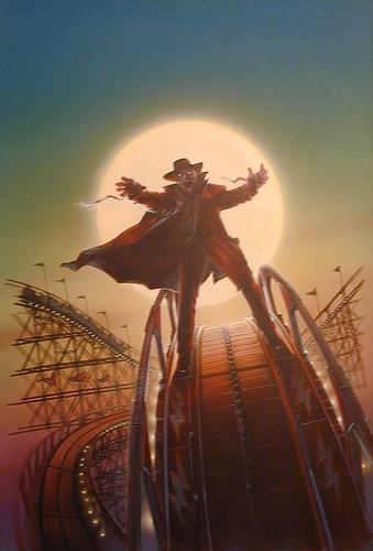 Darkman Rollercoaster - original production color concept art