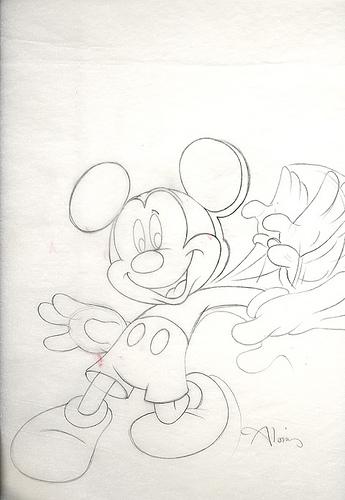 Disney Books Mickey Mouse - original production concept art