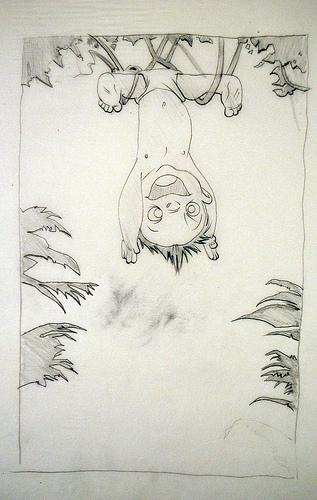 Tarzan Baby Swings - original production concept art
