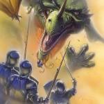 Dragon Princess Dragon and Knights - original production color concept art