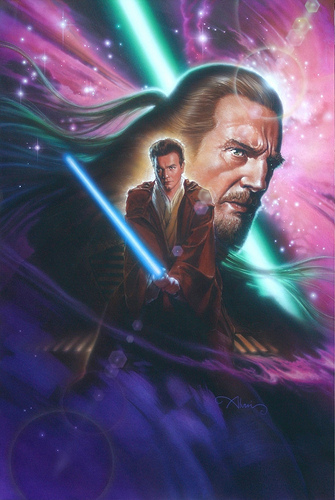 Star Wars Obi-Wan and Qui-Jon - original production color concept art