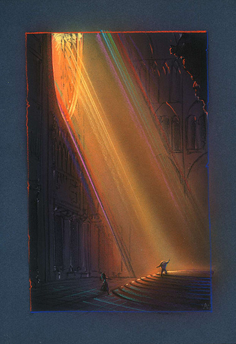Hunchback in The Light - original production color concept art