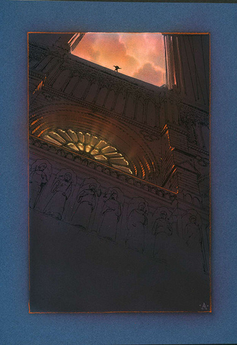 Hunchback On Top - original production color concept art