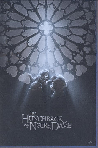 Hunchback Couple B&W - original production concept art