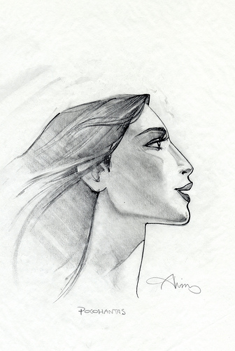 Pocahontas Profile - original production concept art