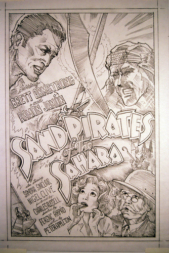 Sand Pirates of the Sahara: original concept art used for the movie inside The Majestic