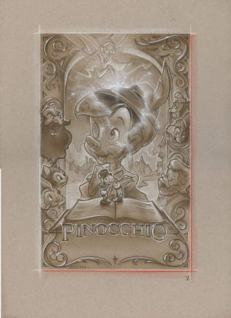 Pinocchio: Blue Fairy - original production concept art