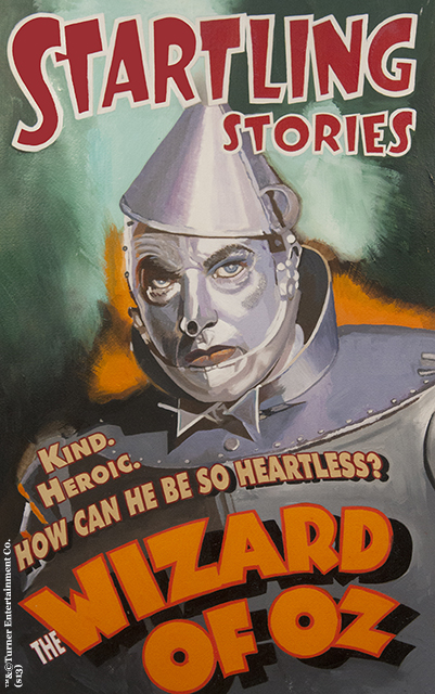 wizard of oz startling stories the tin man giclee on