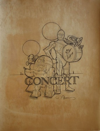 Star Wars Concert poster on toned paper