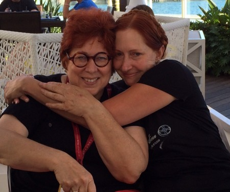 Author Andrea Alvin and Leslie of ArtInsights at San Diego Comic-Con