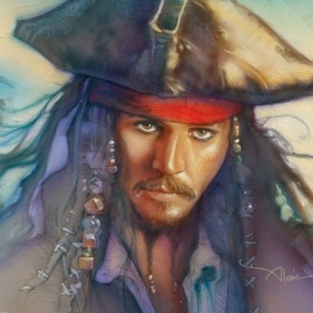 JAGC0012 Captain Jack Sparrow 15x20