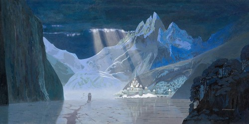 Arendelle in Winter 18x36