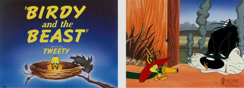 Birdy and the Beast Birdy and the Beast Diptych Bob Clampett