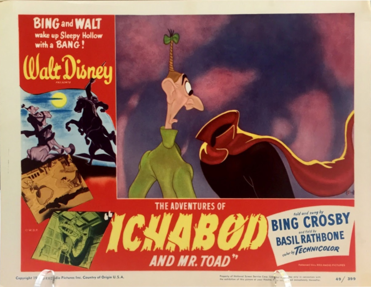 Ichabod and the Headless Horseman lobby card at ArtInsights