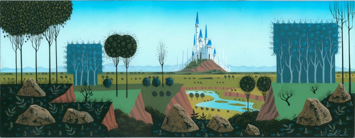 A Sleeping Beauty background by Eyvind Earle