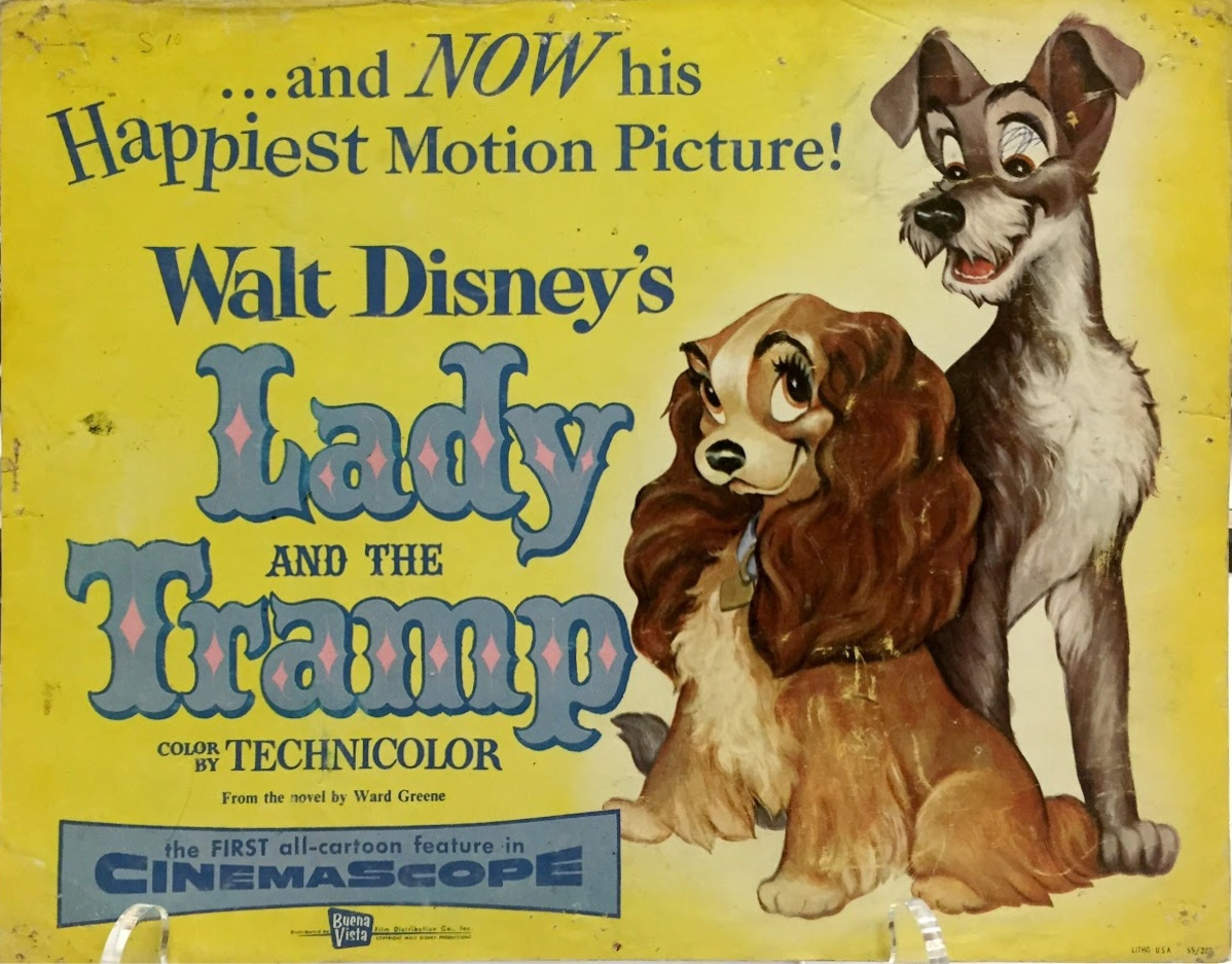 Lady and the Tramp original lobby card from 1955 in the gallery