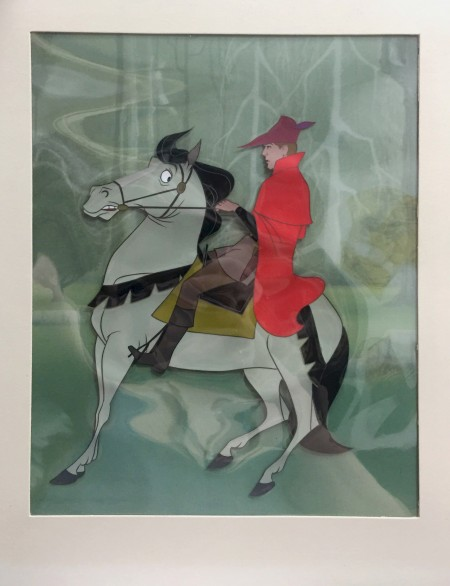 A Disneyland art corner original production cel of Prince Phillip and Samson we just got at the gallery.
