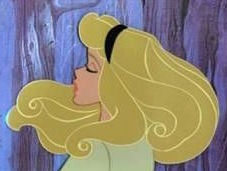 Briar Rose and her fabulous hair, hand-inked by the Ink and Paint Department at Disney