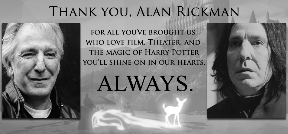 Thank You Alan Rickman